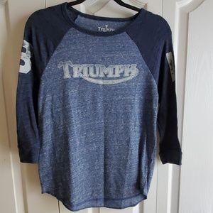 Lucky Brand Triumph 3/4 baseball sleeve shirt S